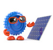 Plastic cog has a new solar panel
