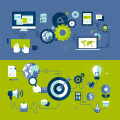 Design concepts of web design and internet advertising process