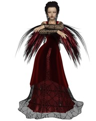 Gothic Fairy in Red Dress