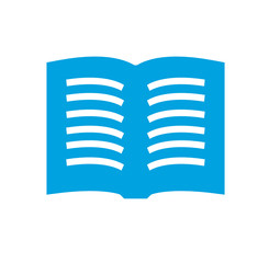 Book - Vector Clean blue icon