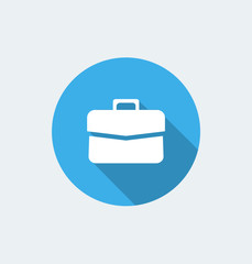 Briefcase - flat design with long shadow