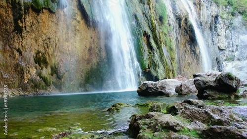 Waterfall in national park, Plitvice lakes, Croatia