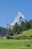 Zermatt, Skipisten im Sommer, Schweizer Berge, Furi, Wallis poster