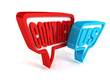 contact us red blue speech bubbles