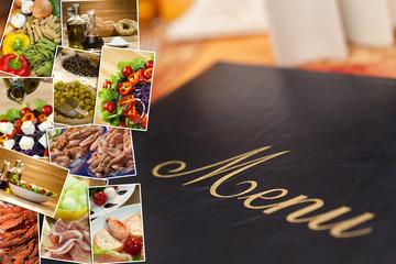 Mediterranean Healthy Food & Menu Montage