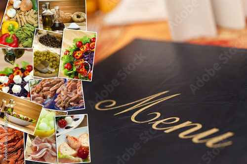 Mediterranean Healthy Food & Menu Montage