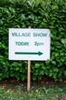 Village Show Sign