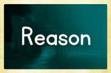 reason concept poster
