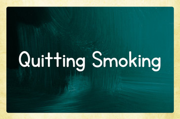 quitting smoking concept