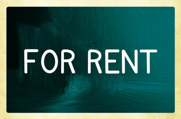 for rent concept