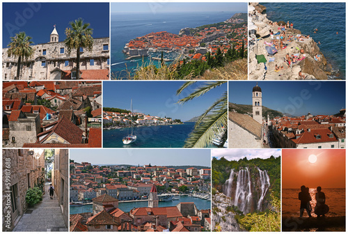 Croatia, collage postcard