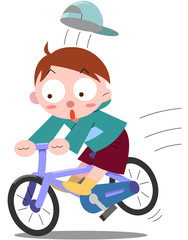 自転車飛び出し禁止
