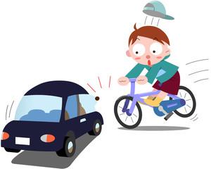 自転車の急な飛び出し