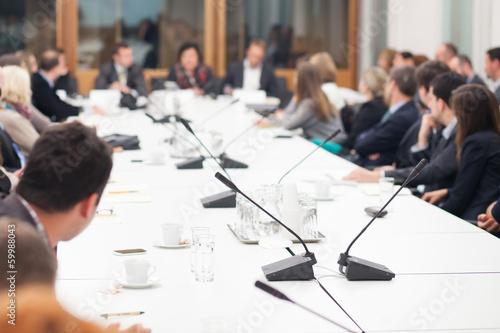 Leinwandbild Motiv people at conference