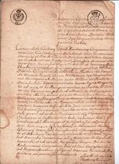łaciną ręcznie akt pisany