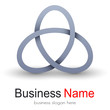 Logo business, ellipses vector object.
