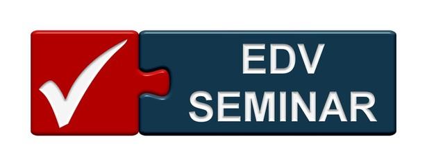 Puzzle-Button blau rot: EDV Seminar