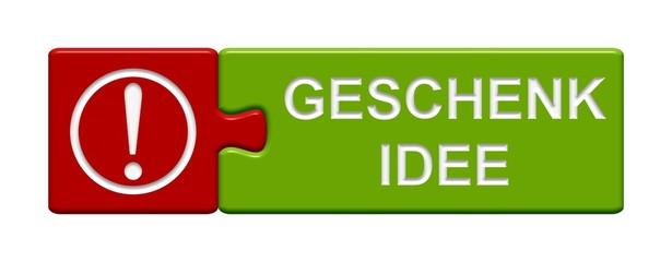 Puzzle-Button rot grün: Geschenk-Idee