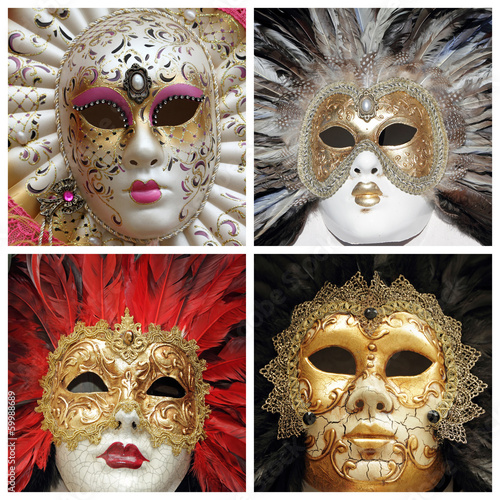 venetian carnival masks collection