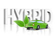 An illustration of Hybrid vehicle concept