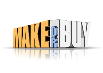 An illustration of make or buy decision