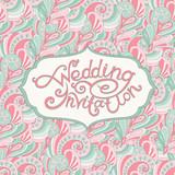 abstract wedding invitation
