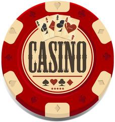 Retro casino chip