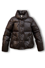 Jacket, down-padded coat the female short