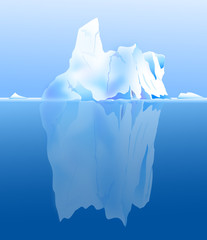 Beauty of Iceberg in Antarctica-vector
