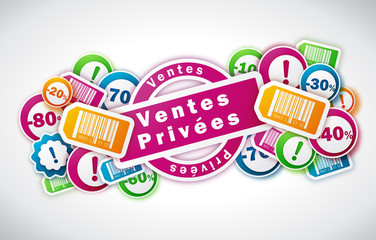 Ventes Privées - Illustration vectorielle
