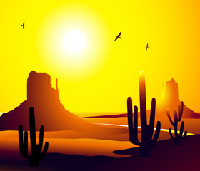 Monument Valley (Arizona)-Vector
