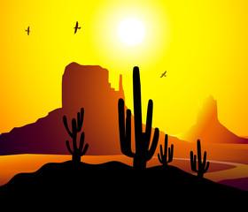 Monument Valley (Arizona)-Vector