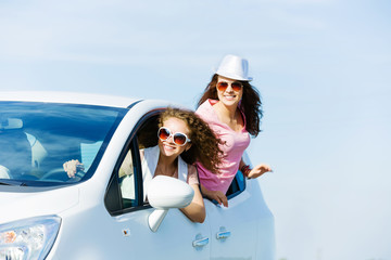 Women in car