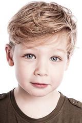 Portrait of Gorgeous Young Boy.