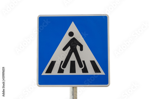 Traffic sign for pedestrian crossing 3