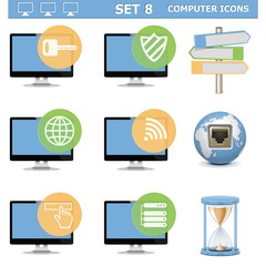 Vector Computer Icons Set 8