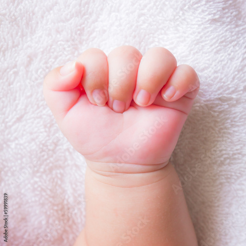 fist baby hand