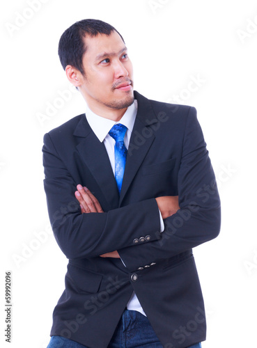 smiling business man isolated