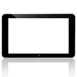 black computer tablet touchscreen on white background. vector re