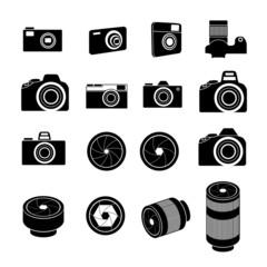 Camera Icons and Camera lens Icons