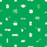 tea icons pattern eps10