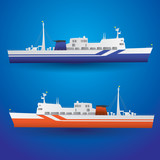 vector ferry ship eps10