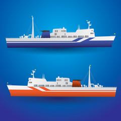 vector ferry ship eps10