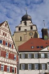 Herrenberg Fachwerkhäuser und Kirche
