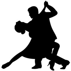 Silhueta - Casal dançando Tango