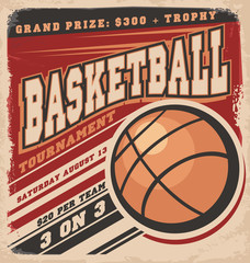 Retro basketball poster design