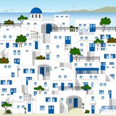 Traditionelle weiße Häuser in Griechenland