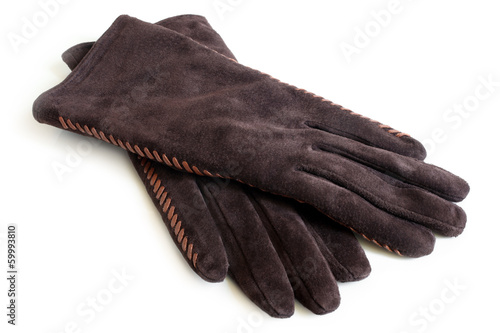 Suede women's gloves