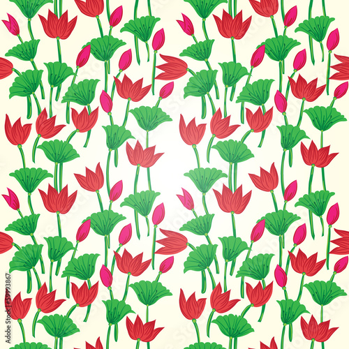 Vintage floral seamless pattern  Seamless texture with flowers