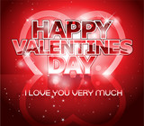 Modern Valentine's day letter greeting background design